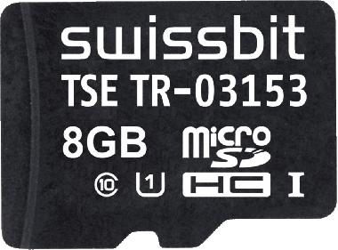 Swissbit TSE, microSD-Karte, 8 GB (swisstsemsd - SFSD8192N3PM1TO-E-LF-C31-JA0)